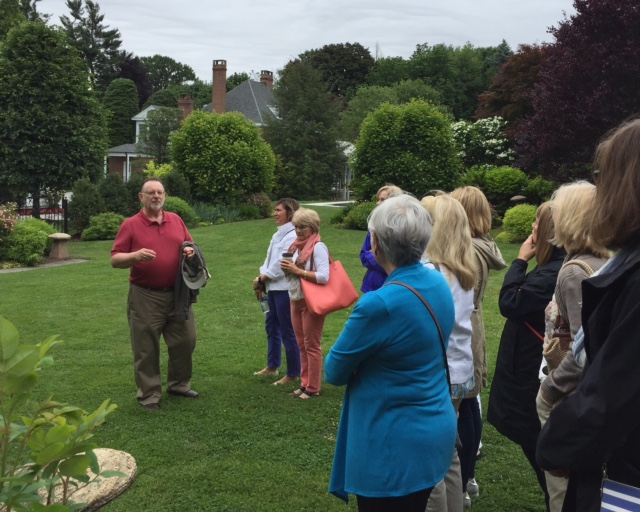 Scattered seeds garden club touring the hamilton estate Valley forge flowers